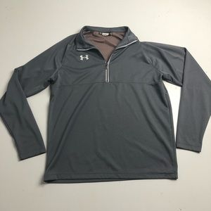 Under Armour Quarter Zip Gray Sweater Loose Fit